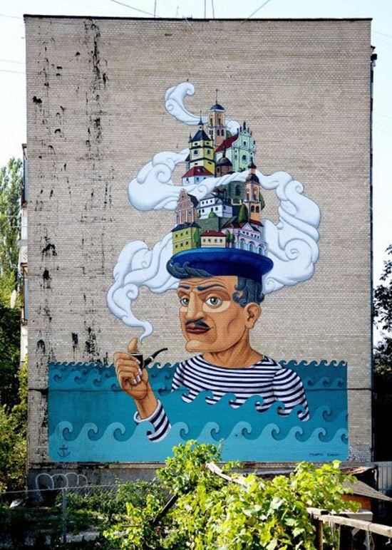 19 amazing street art pieces #streetart