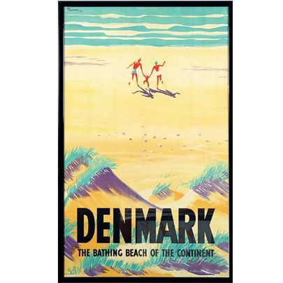 10 popul re turistplakater moderne kunst kunst antik og auktion posters denmark. Black Bedroom Furniture Sets. Home Design Ideas