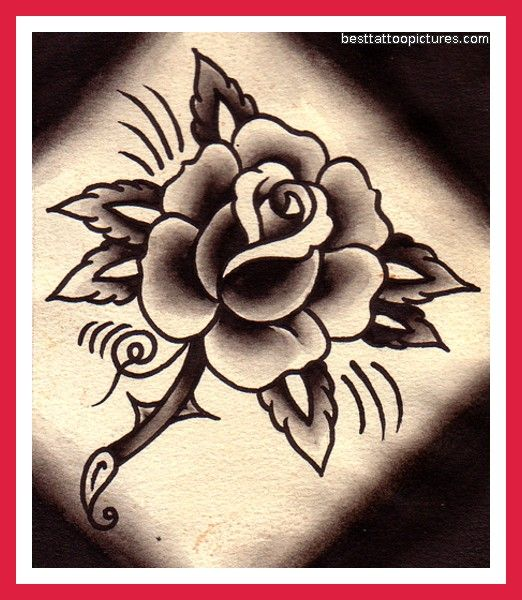 522c79ead110 Gorgeous traditional style rose, a la Sailor Jerry. | Tattoos ...