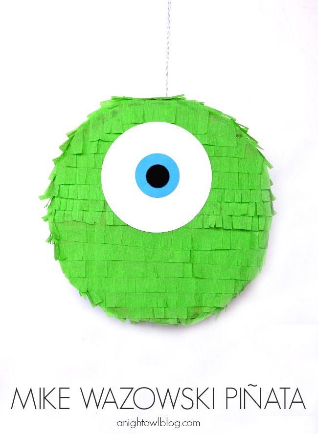 Mike Wazowski Piñata | Piñatas, Fiestas y Cumpleaños