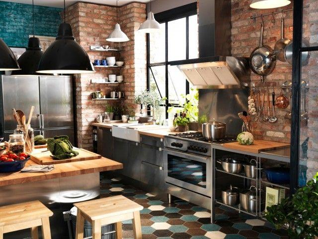 Pin von Em ~ auf kitchen | Pinterest | Küche, industrieller Stil und ...