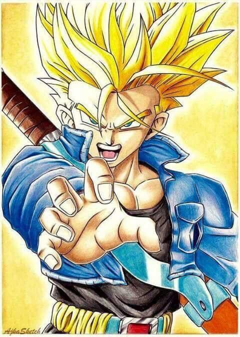 Really Good Future Trunks Fan Art Dragon Ball Z Dbz Naruto