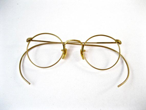 8b49a3942571 Antique gold spectacles. American Optical AO Ful-Vue 1940s style eyeglasses  1 10 12K GF gold filled