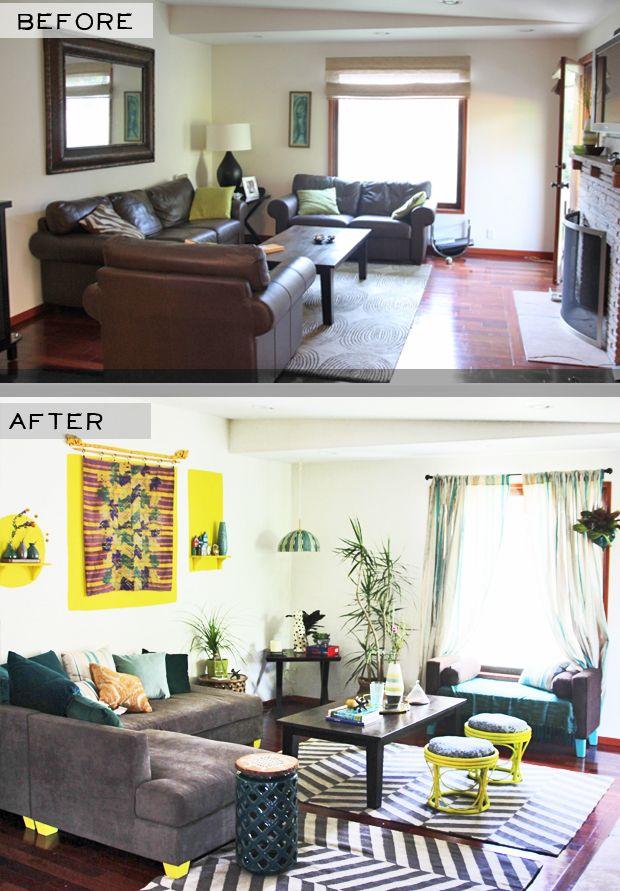 West Side Living Room Makeover Big Reveal Justina Blakeney Living Room Makeover Room Makeover Home