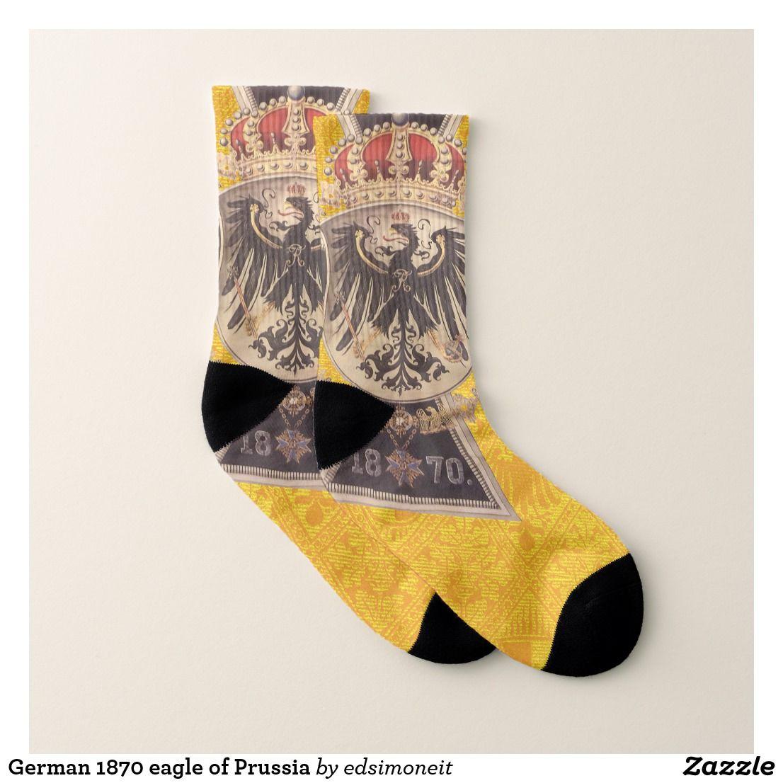 German 1870 eagle of prussia socks art
