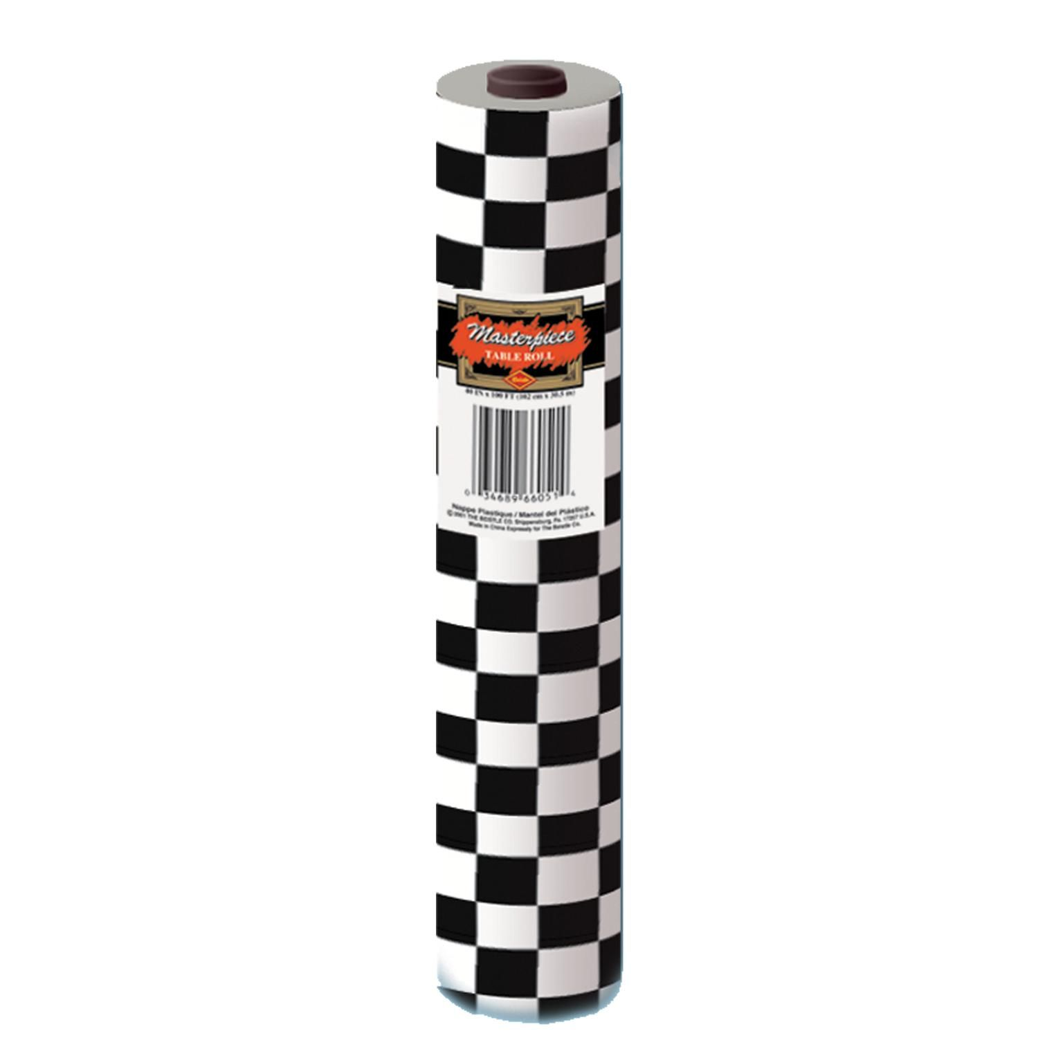 Beistle Black White Plastic Checkered Table Roll Black White Parties Checkered Tablecloth Christmas Party Supplies