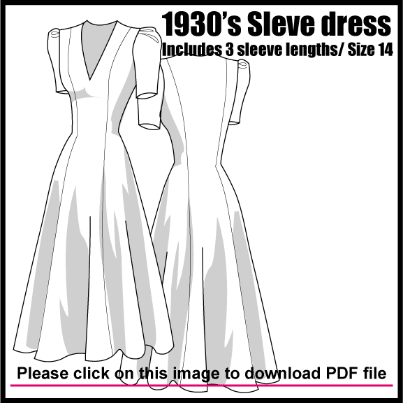 free 1930s dress pattern | COUTURE | Pinterest | Costura, Patrones y ...