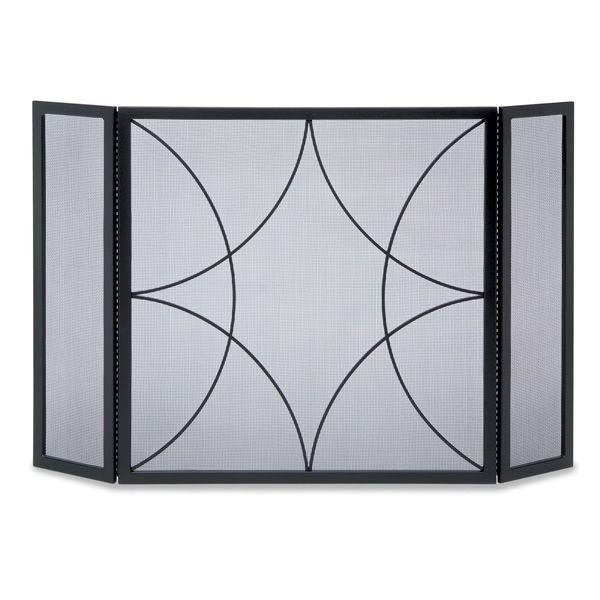 Pilgrim 3 Fold Forged Diamond Fireplace Screen # ...