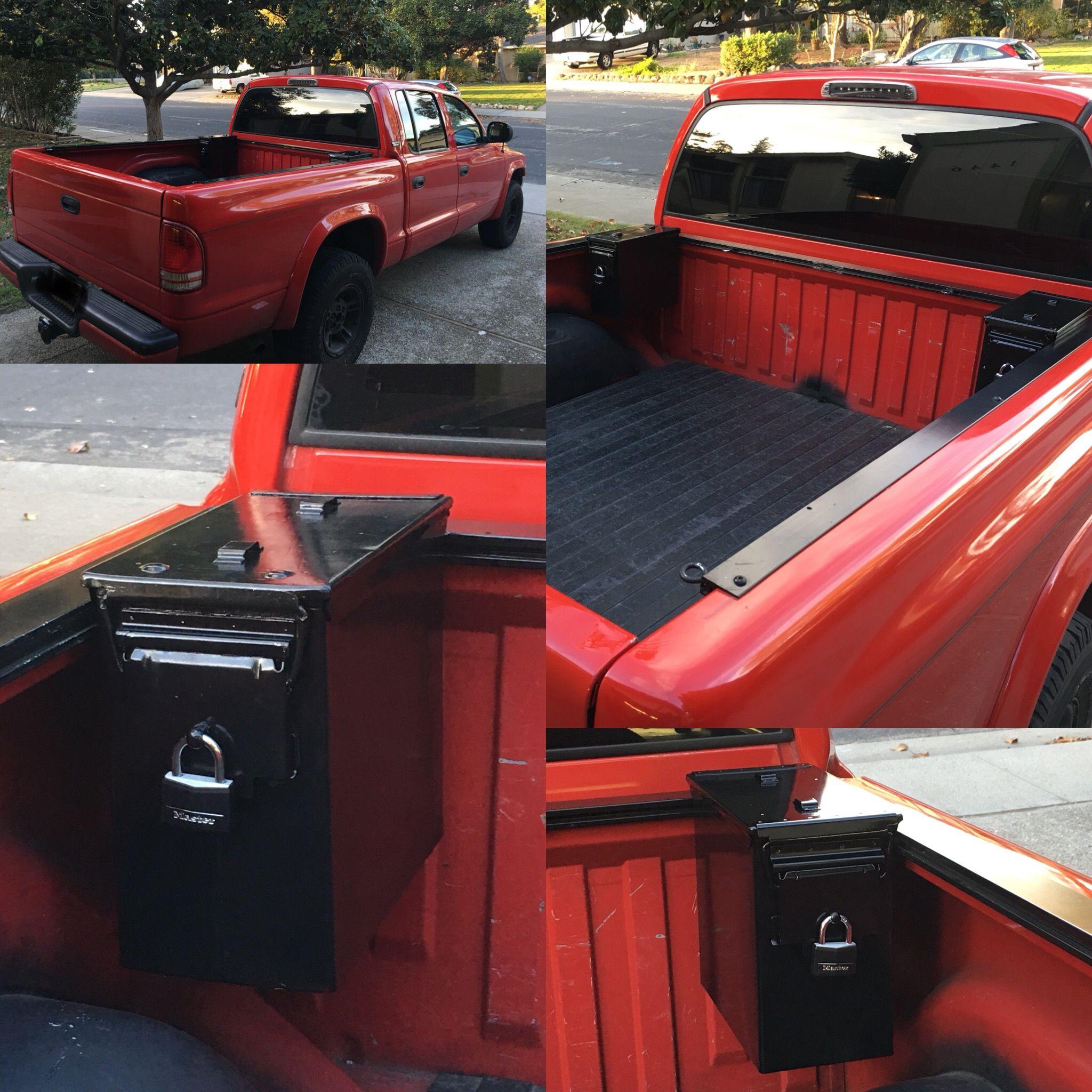 Dodge Dakota 4x4 Custom Bed Rail And Ammo Can Mod Ammo Cans Custom Bed Truck Mods