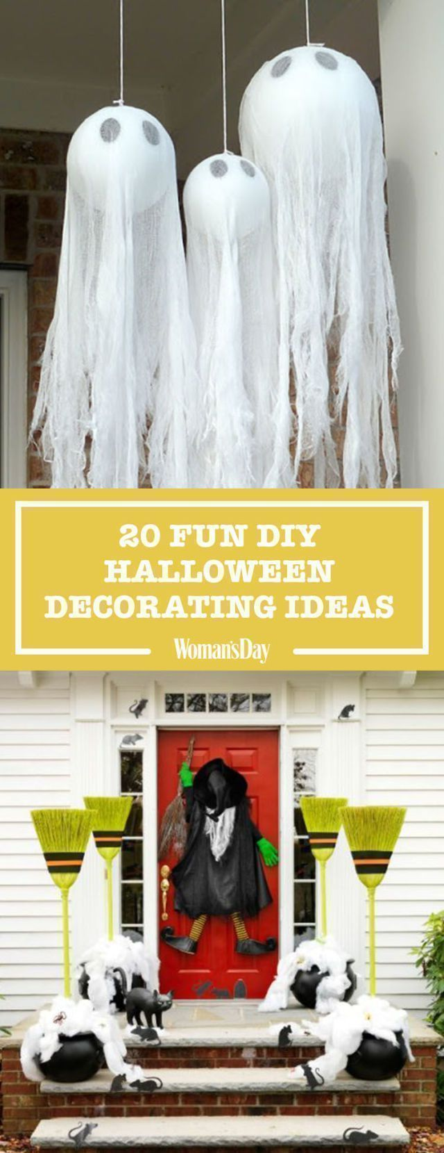 40 Easy DIY Halloween Decoration Ideas Homemade Halloween