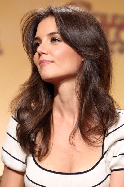 Katie Holmes Hairstyles Glamorous Pinnad Style On All About Hair  Pinterest  Katie Holmes