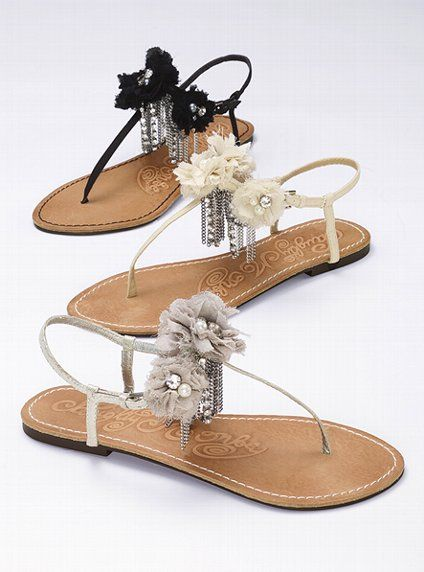 5ea43e1e4173 Embellished Thong Sandal - Naughty Monkey™ - Victoria s Secret grey and  white