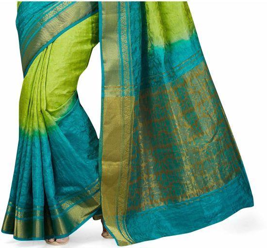 5454b7cae4 Buy Taanshi Self Design Fashion Tussar Silk Green Sarees Online @ Best  Price In India