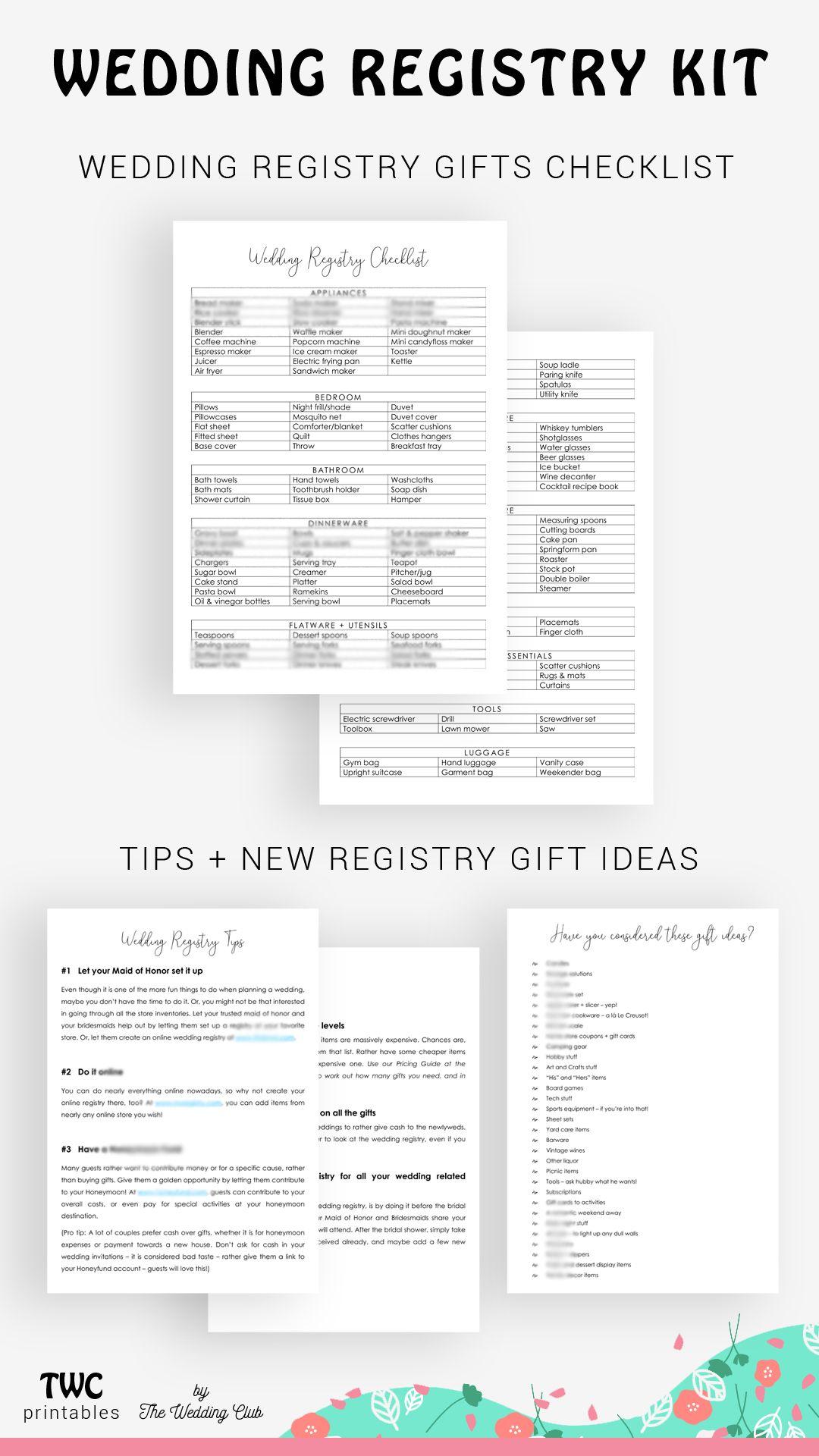 Wedding registry kit wedding gift registry wedding Etsy