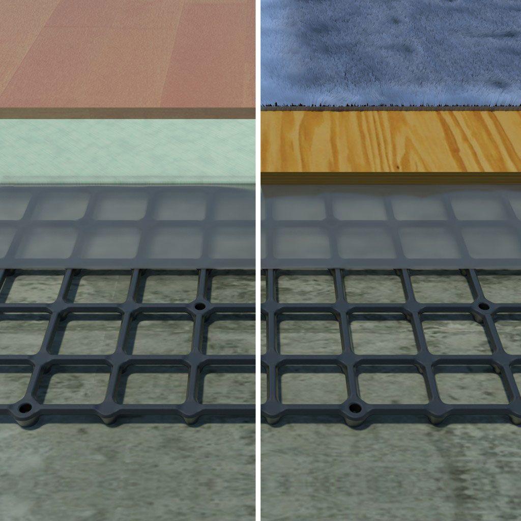 subfloor for basement concrete floor Subfloor