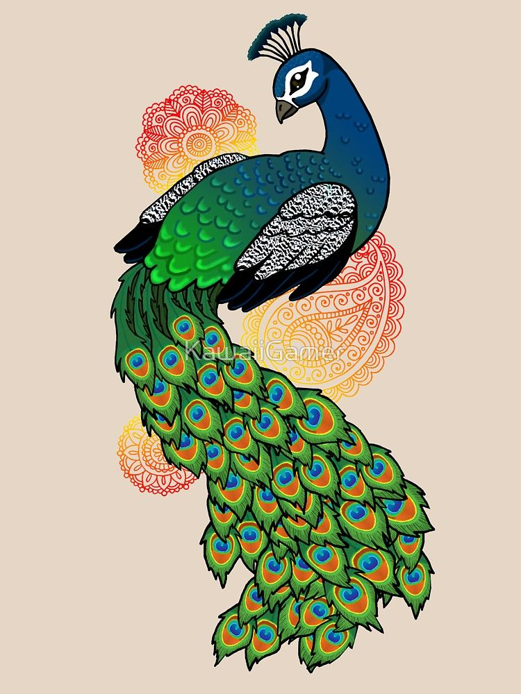 Peacock Relaxed Fit T Shirt By Jadeydraws Nstuff In 2020 Peacock Drawing Peacock Art Peacock Drawing Images