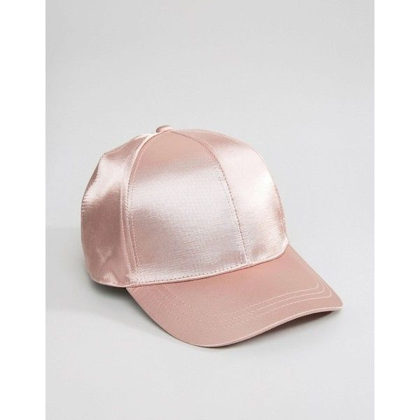 ASOS Satin Baseball Cap ( 15) ❤ liked on Polyvore featuring accessories cfe6c612dbca