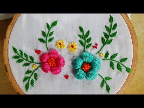Hand embroidery designs | Embroidery design for dresses | Stitch and Flower-102 - YouTube