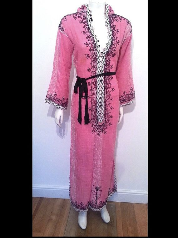 Vintage 70s 60s EMBROIDERED Moroccan Indian Hippy Hippie costume ...