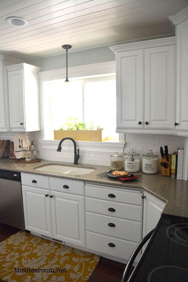Kitchen Tour Updated Trendy Kitchen Tile Backsplash For White Cabinets Updated Kitchen