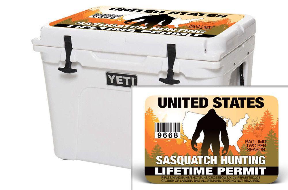 YETI 20 QT Cooler Graphics - Sasquatch Hunting Permit