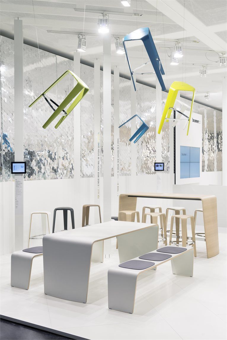 Brunner at Orgatec 2012 - Colonia, Germany - 2012 - Ippolito Fleitz Group #interiors #design #stool
