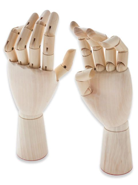 Wooden Hands Mannequin Artist Drawing Movable Finger Joints 12\
