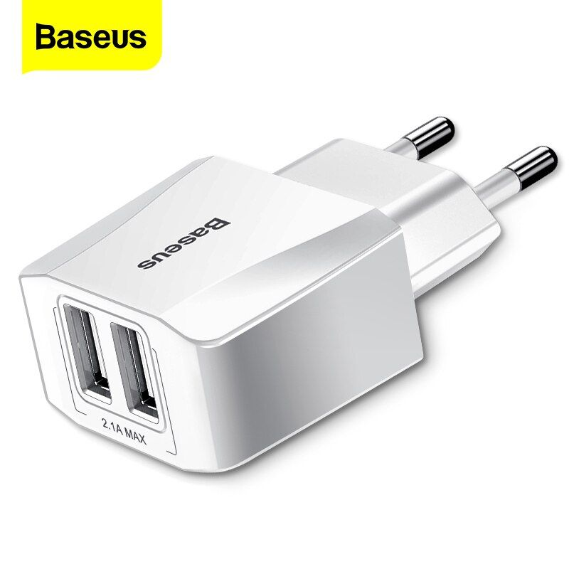 Baseus Dual Usb Charger For Iphone Xs Max X 8 Samsung S10 S9 Xiaomi Mi 9 8 Eu Adapter Fast Charging Wall Mobile Phone Charger In 2020 Dual Usb Usb Chargers Eu Adapter