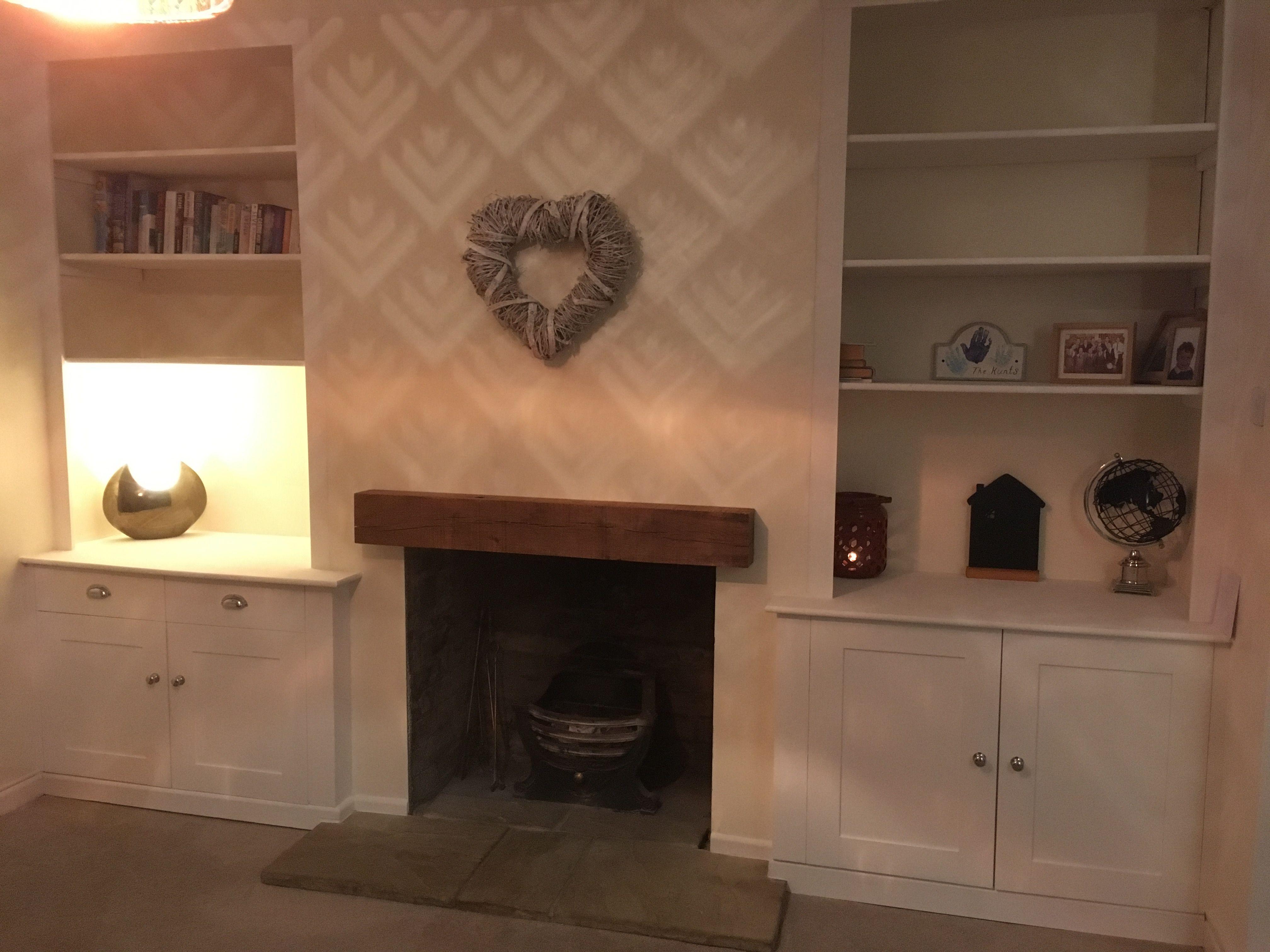 alcove cupboards fireplace oak beam inglenook fireplace