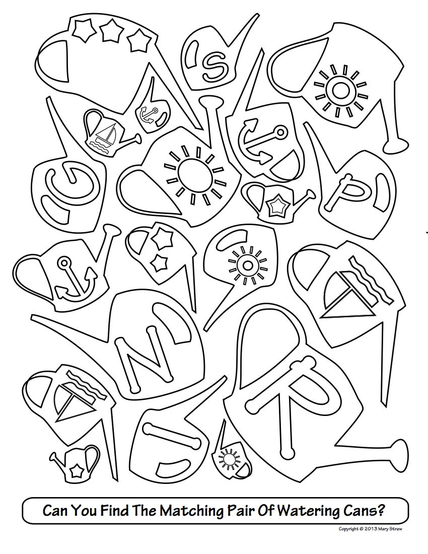 Match And Find Coloring Pages