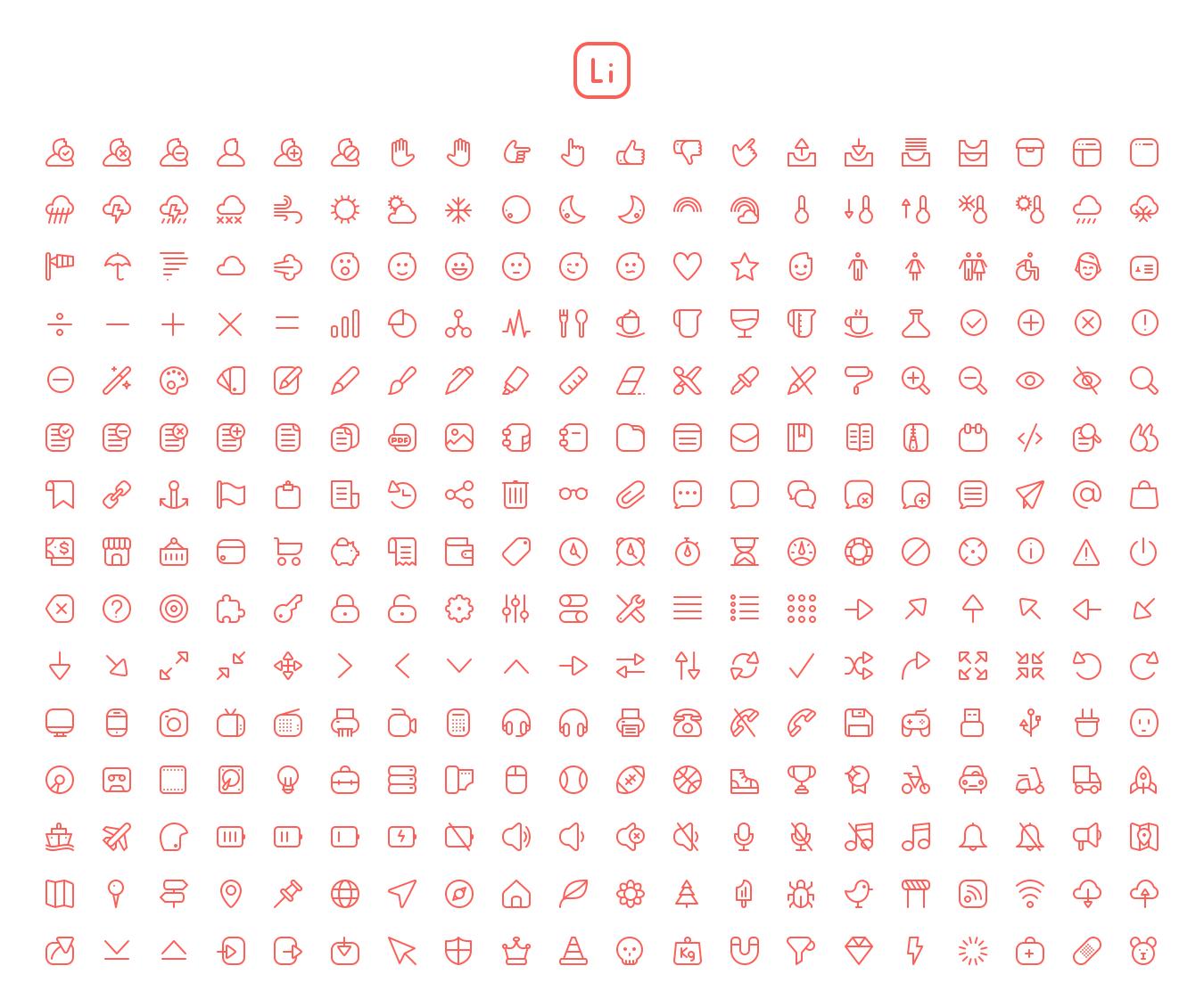 Lítio: pack de iconos vectoriales minimalistas, por el diseñador portugués Andre Goncalves. Descarga: http://cmnt.ca/1fqJcbu