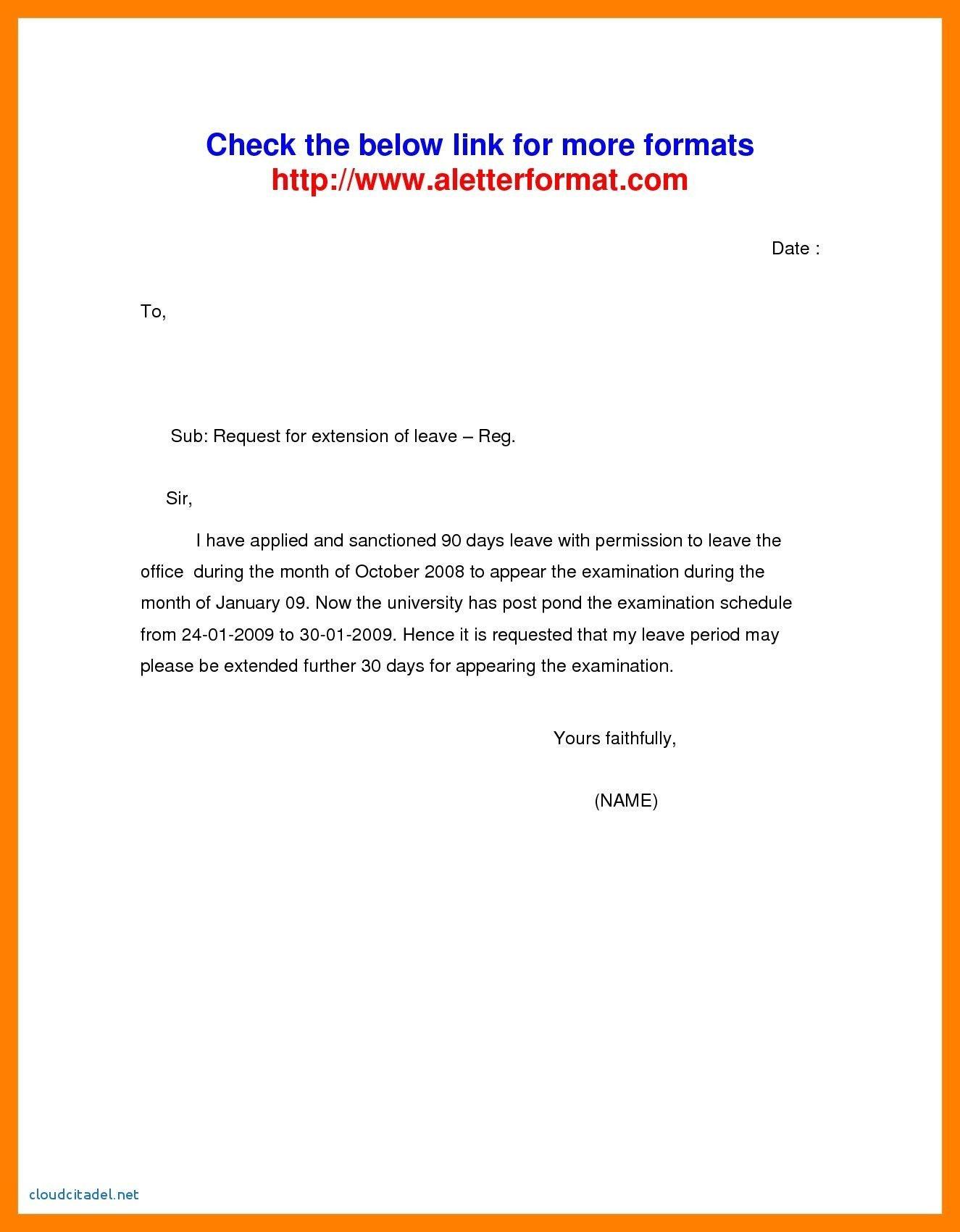 Valid Vacation Leave Request Letter Sample Letter Sample
