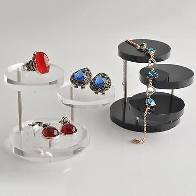 Acrylic Jewelry Display Necklace Bracelet Round Table Holder Stand