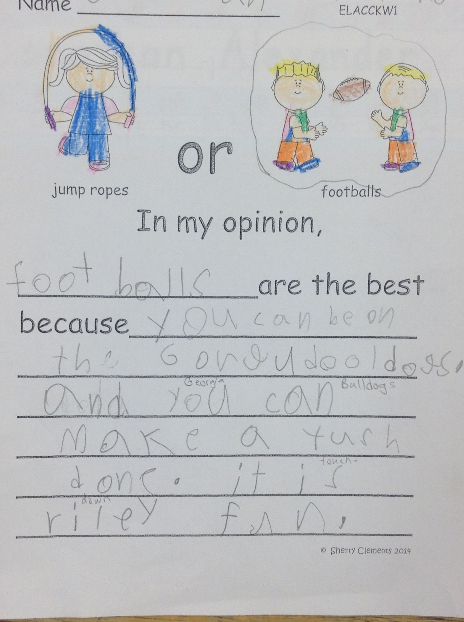 Toys Opinion Writing With Images