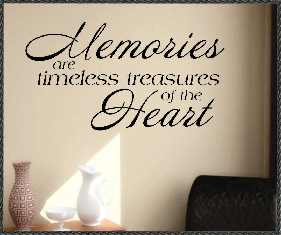 Farmhouse Wall Decal Memories Are Treasures Vinyl Wall Etsy In 2021 Memories Quotes Making Memories Quotes Childhood Memories Quotes
