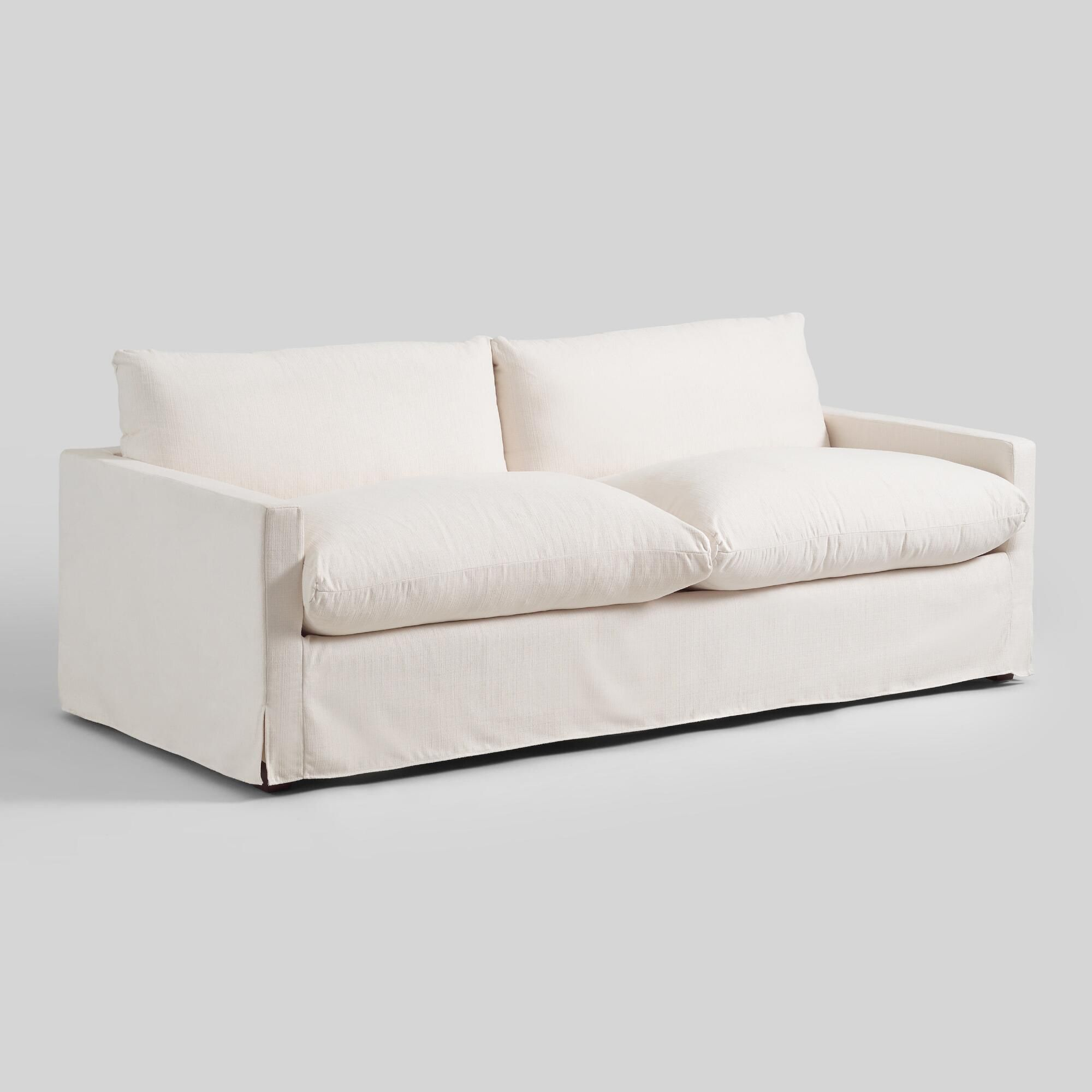 Ivory Feather Filled Brynn Sofa By World Market Affordable Sofa