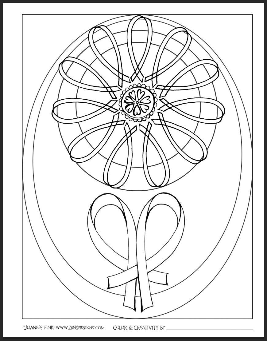 A Grateful Heart   Doodles - Coloring Pages   Pinterest   Ribbon ...