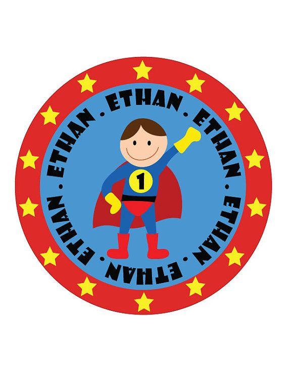 Superhero Birthday Tshirt from esty