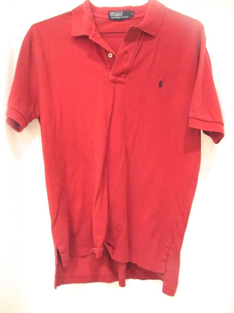 1ad2b0a6 Ralph Lauren Polo Red Shirt,Preowned,.5/10,Medium,Short sleeve,No Res # PoloRalphLauren #polo