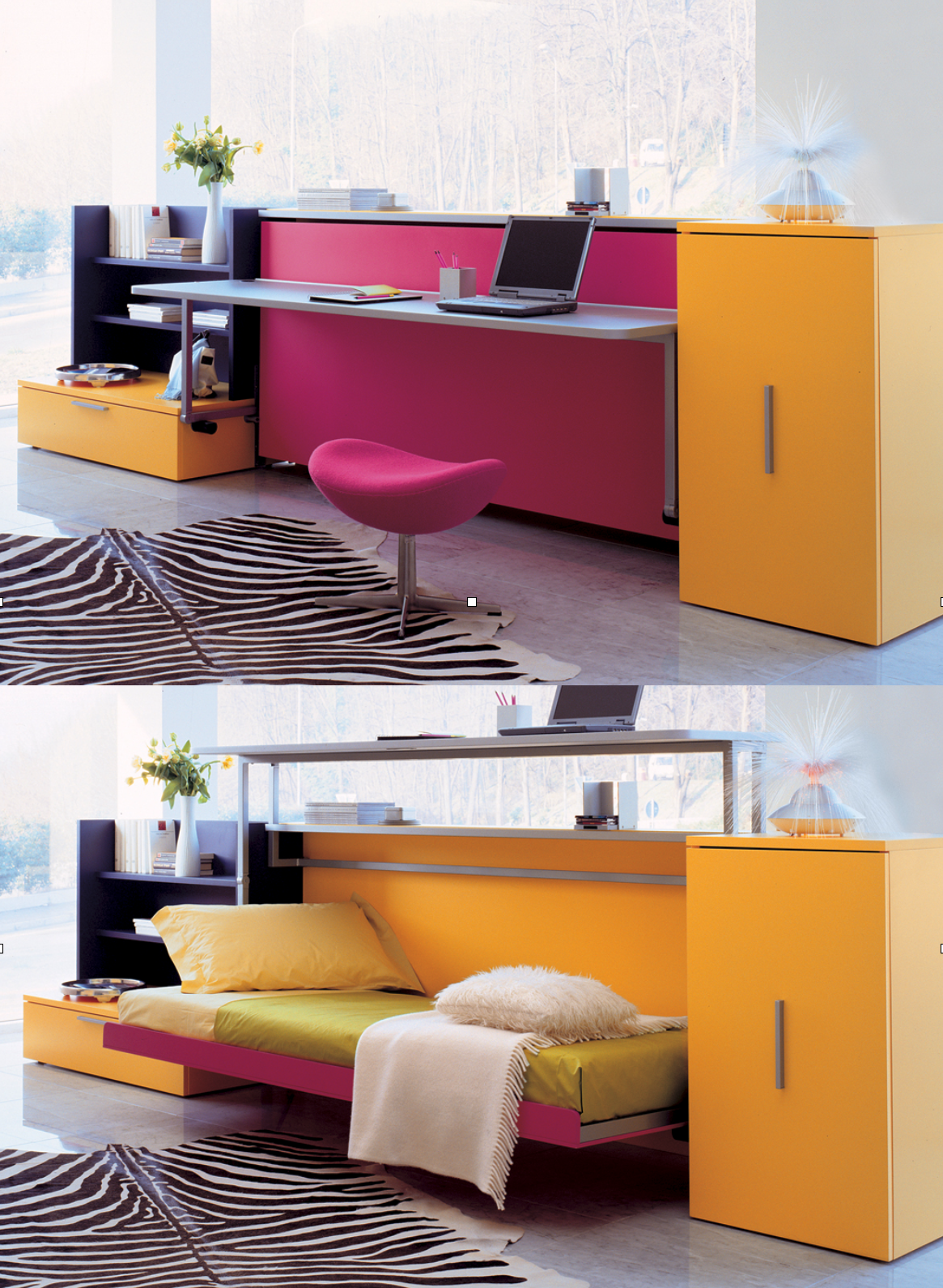 Best Single Wall Bed With Desk Cabrio Resource Furniture 400 x 300