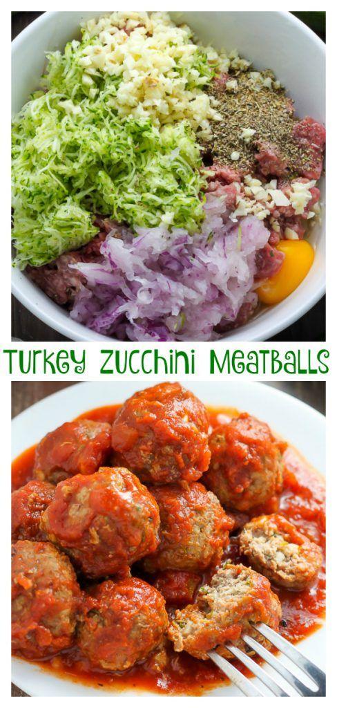 Baked Turkey Zucchini Meatballs #healthycooking
