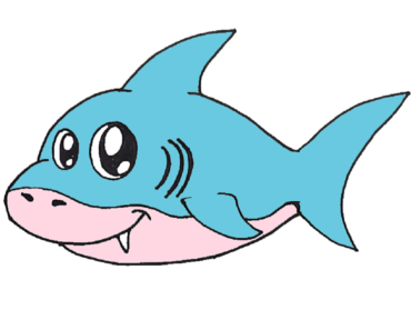 How To Draw A Baby Shark Step By Step Cute Shark Drawing Easy