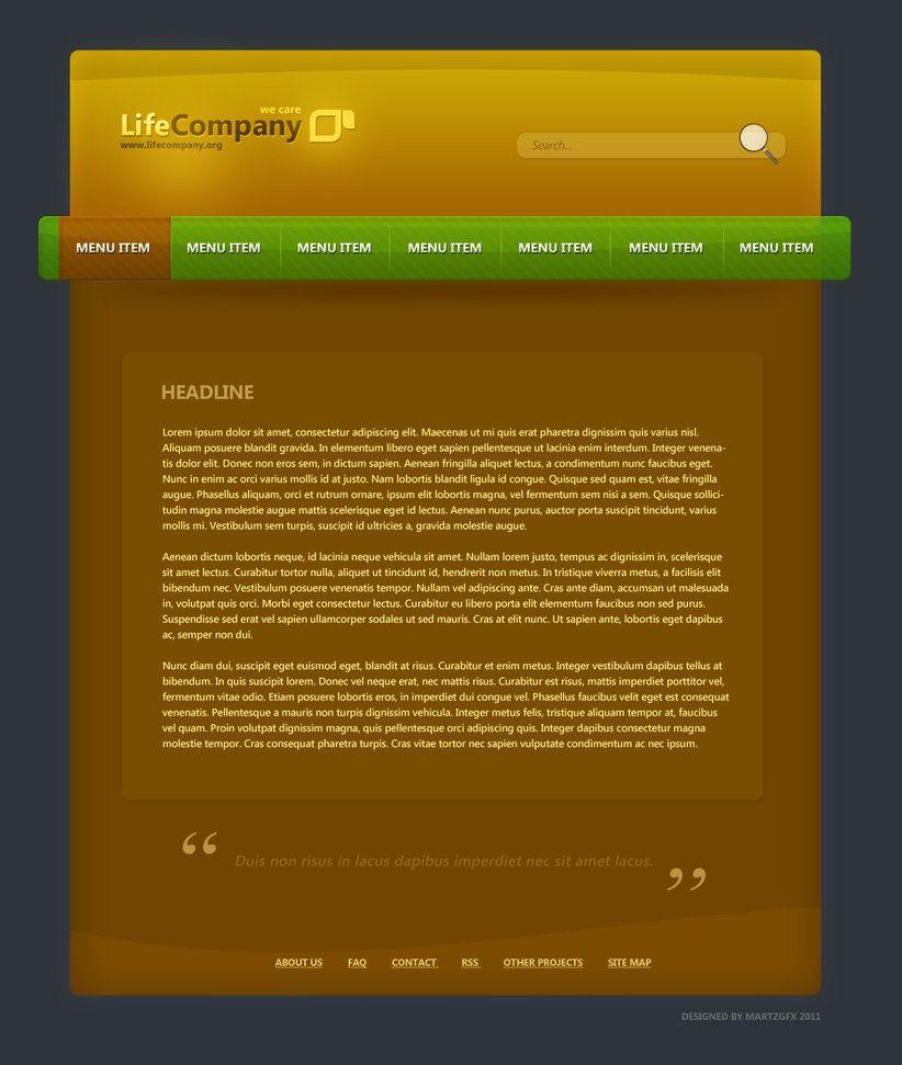 PSD Files for Website responsive web design