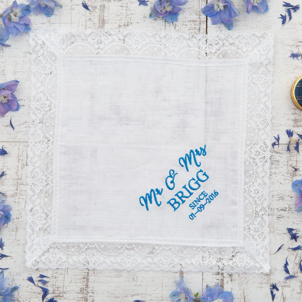 Personalised Hankie Gift For Her MyGiftGenie Cotton