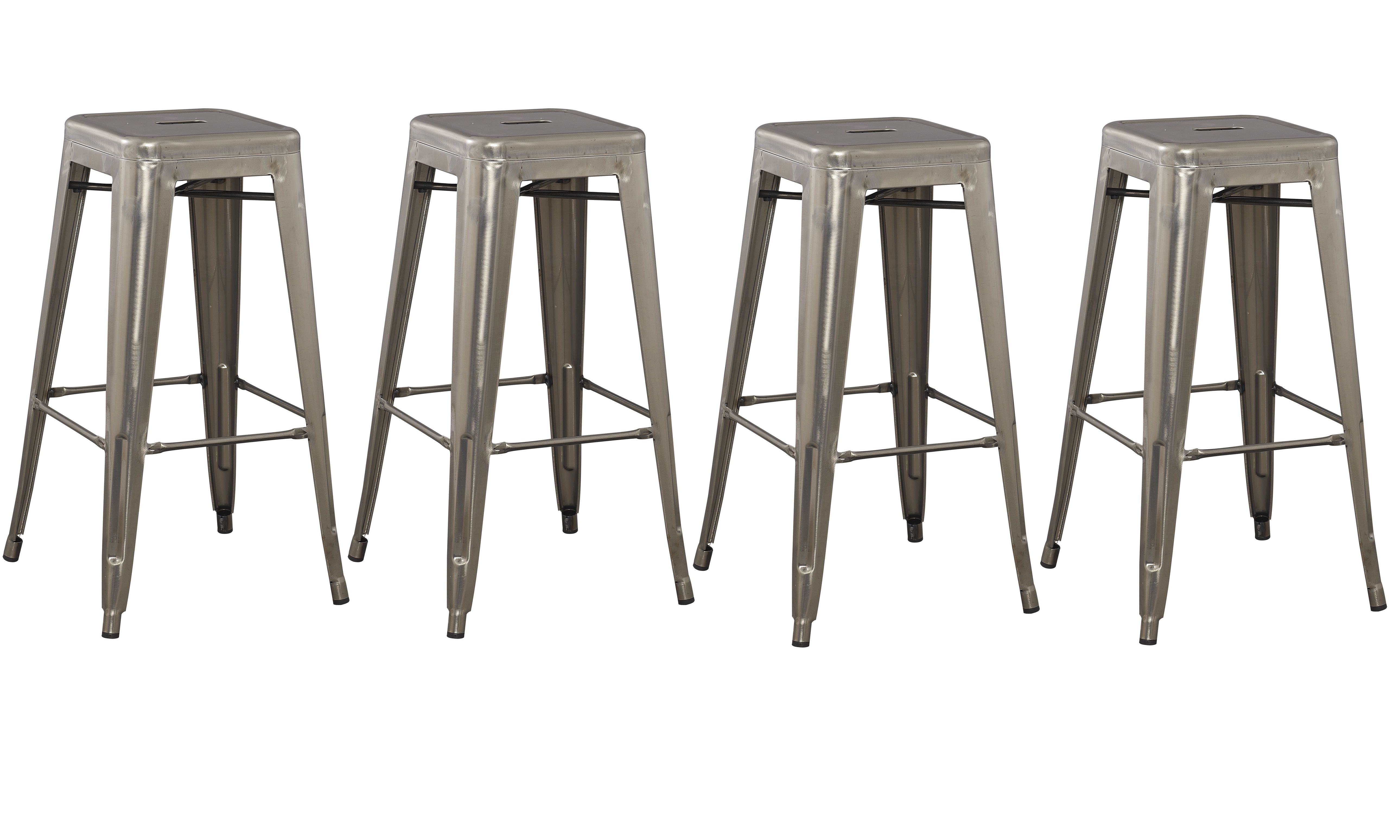 30 inch Solid Steel Stacking Industrial Distressed Stain Metal Tabouret Dining…