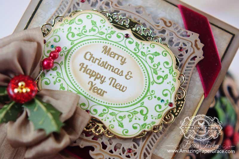 Christmas Card Making Ideas by Becca Feeken (Close Up)
