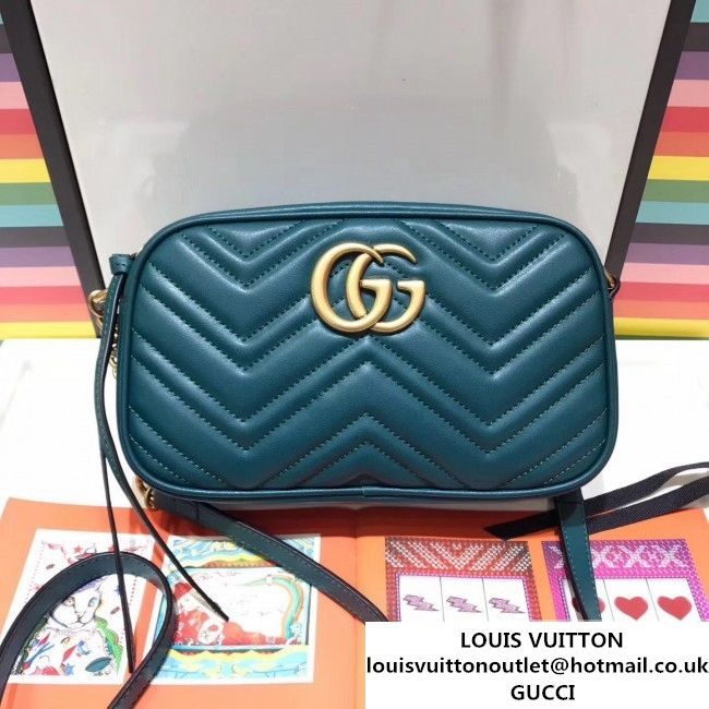 9612fb5b258 Gucci GG Marmont Matelass Small Camera Shoulder Bag 447632 Green 2017 (SPM-7092815  )