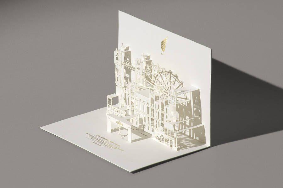 Pop Up Invitation Card For Nike We Run London Pop Up Invitation Invitations Grid Design
