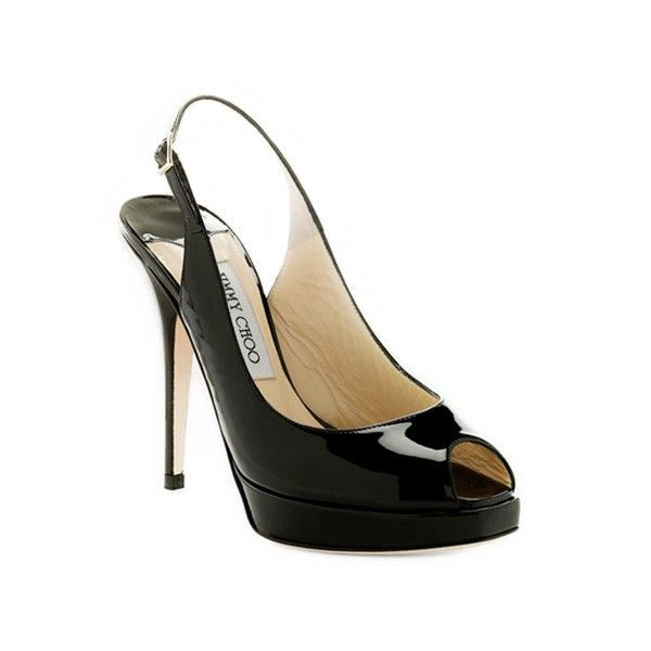 The perfect little black slingback. Only Jimmy Choo.