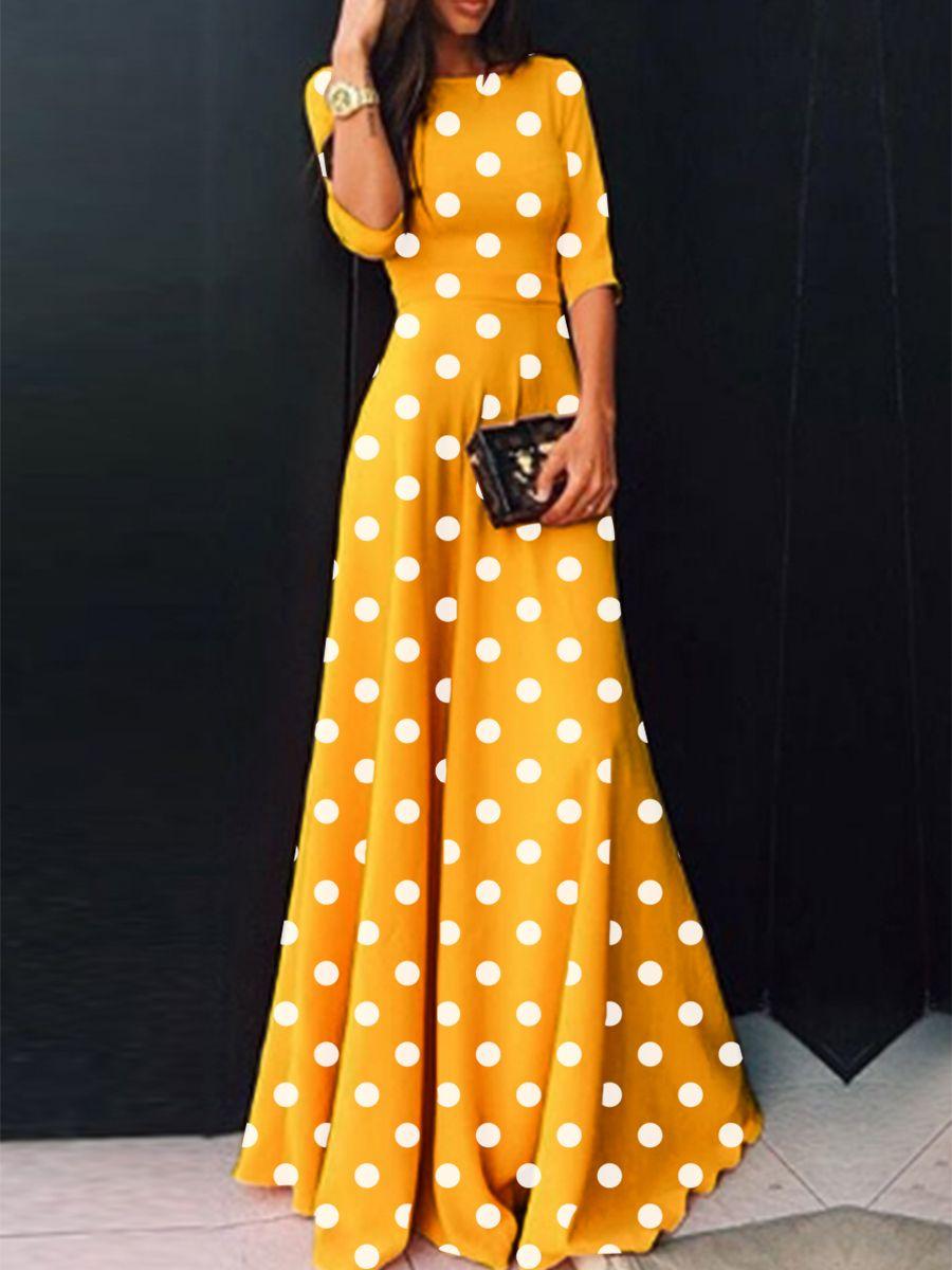 29+ Polka dot maxi dress information